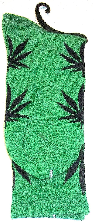 Diseño de calcetines Weed marihuana verde con hojas, color negro: Amazon.es: Iluminación