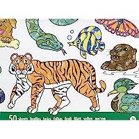 Melissa & Doug Bloc gigante de animales para colorear