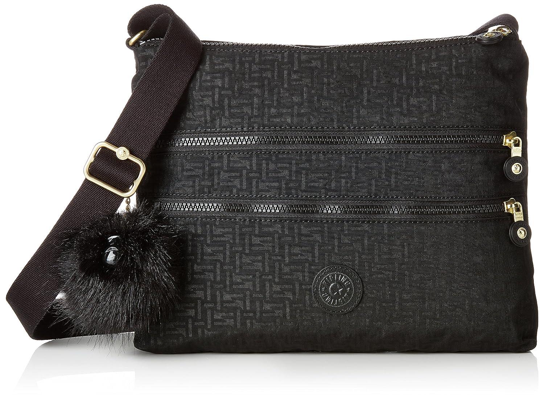 338f9603f Kipling Alvar, Women's Cross-Body Bag, Black (Black Pylon Emb), 4.5x33x26  cm (B x H T): Amazon.co.uk: Shoes & Bags