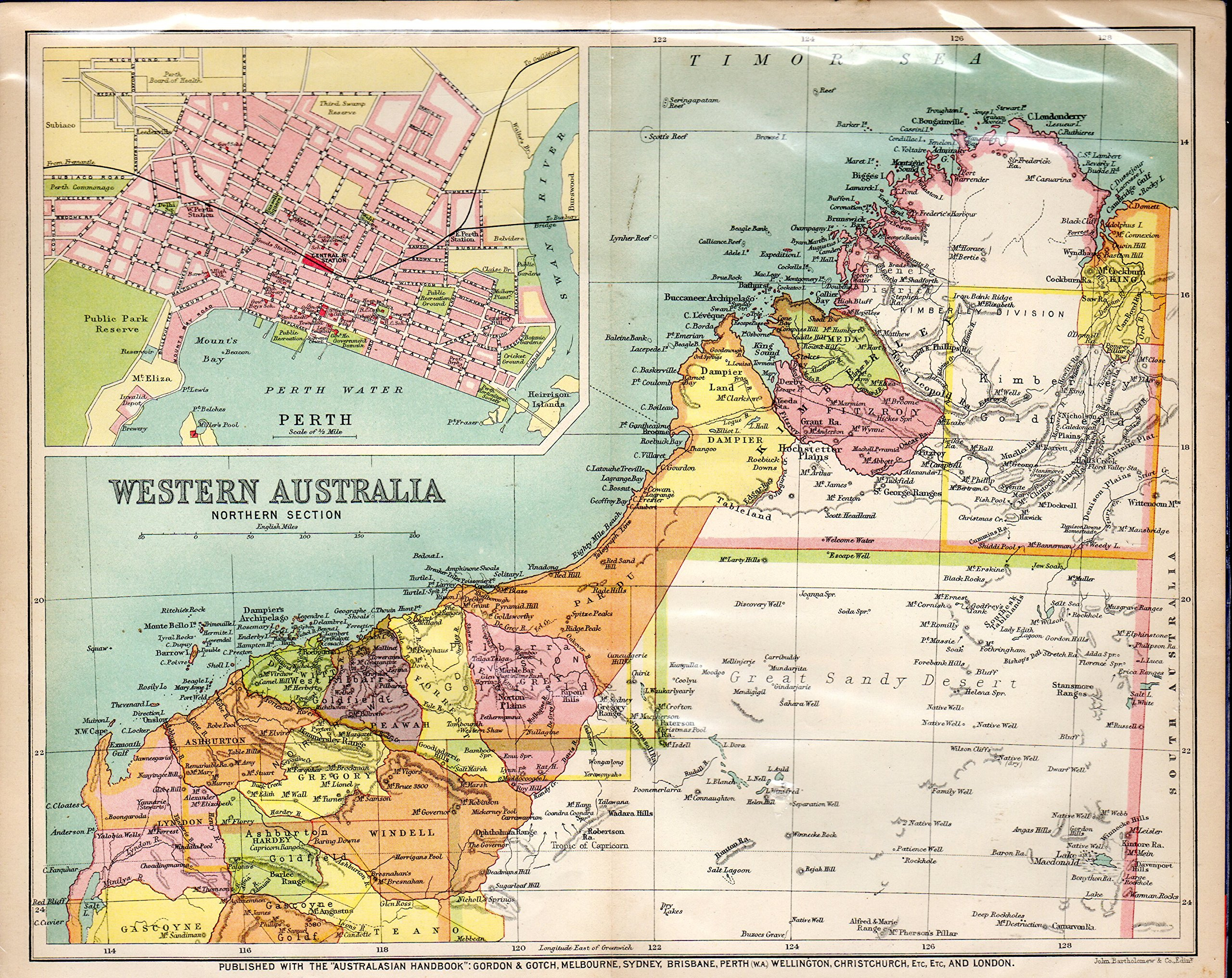Map Northern Australia.Map Northern Territory Of South Australia From The Australian