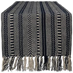 "DII Braided Cotton Table Runner Perfect for Summer, Holiday Parties and Everyday Use, 15x108"", Navy Blue"