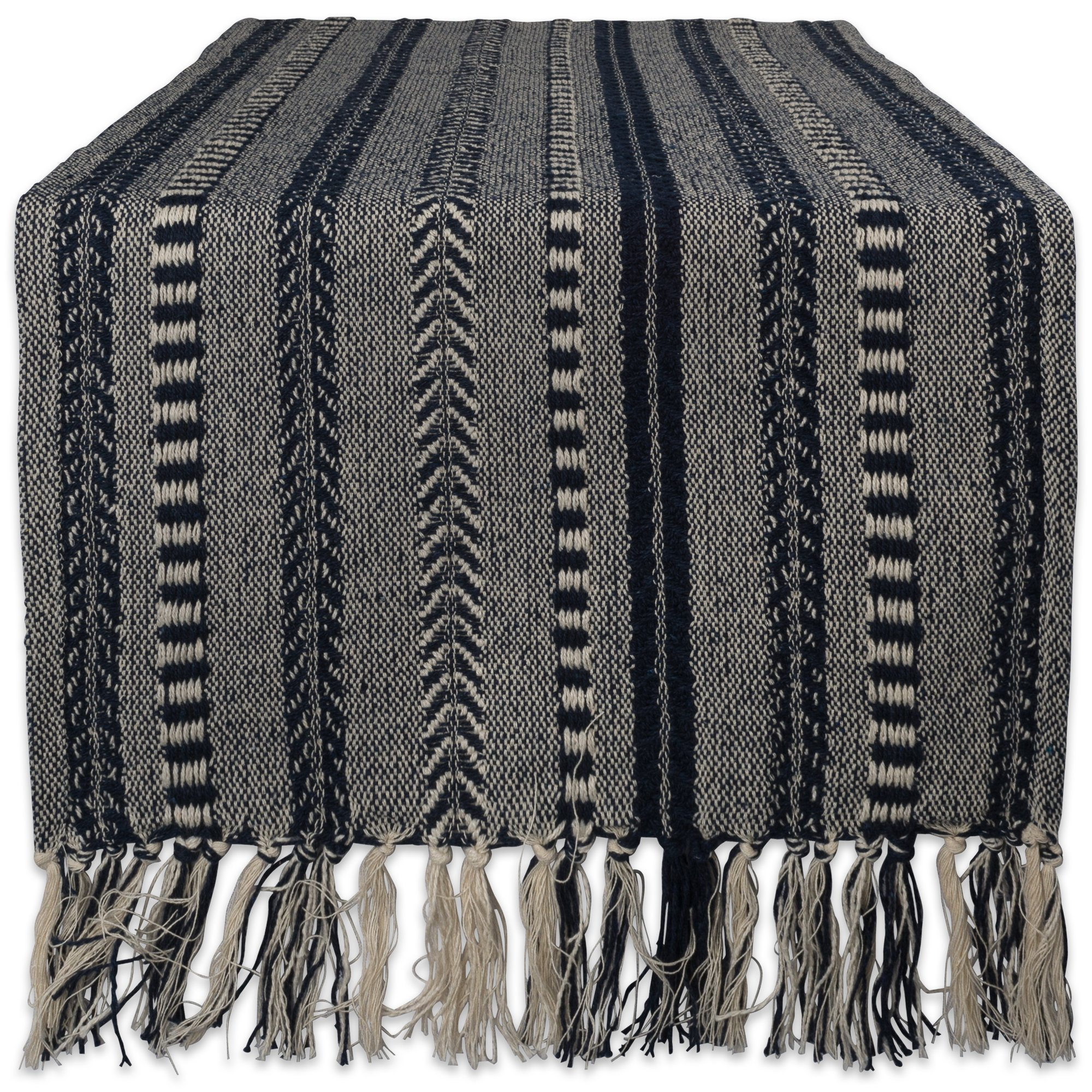 DII 15x72 Braided Cotton Table Runner, Navy Blue - Perfect for Summer, Holiday Parties and Everyday Use