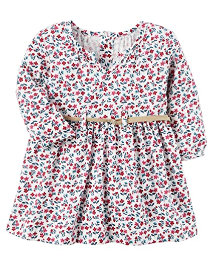 d7a3c4e22 Image Unavailable. Image not available for. Color: Carter's Girls Long  Sleeve Floral Dress With Diaper ...