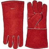 AmazonBasics Welding Gloves - Red, 2-Pack