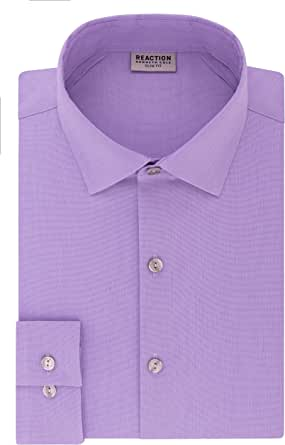 Kenneth Cole Reaction Dress Shirts Slim Fit Technicole Stretch Solid Camisa de Vestir para Hombre: Amazon.es: Ropa y accesorios