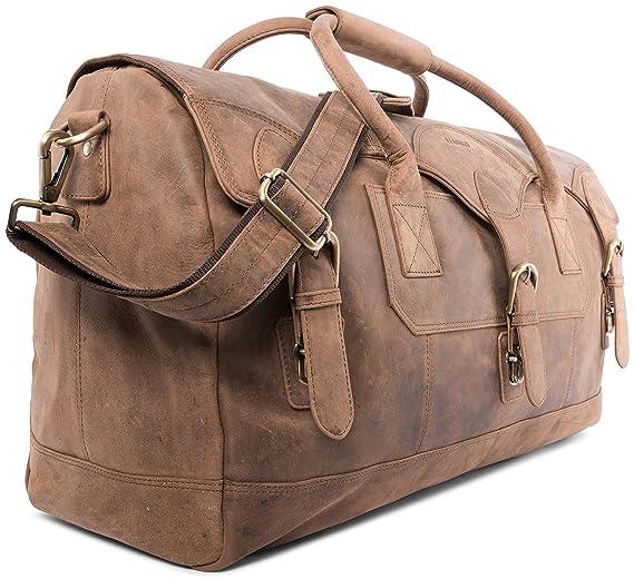 LEABAGS Elche sac de voyage rétro-vintage en véritable cuir de buffle - Fallow 6v7tdNj