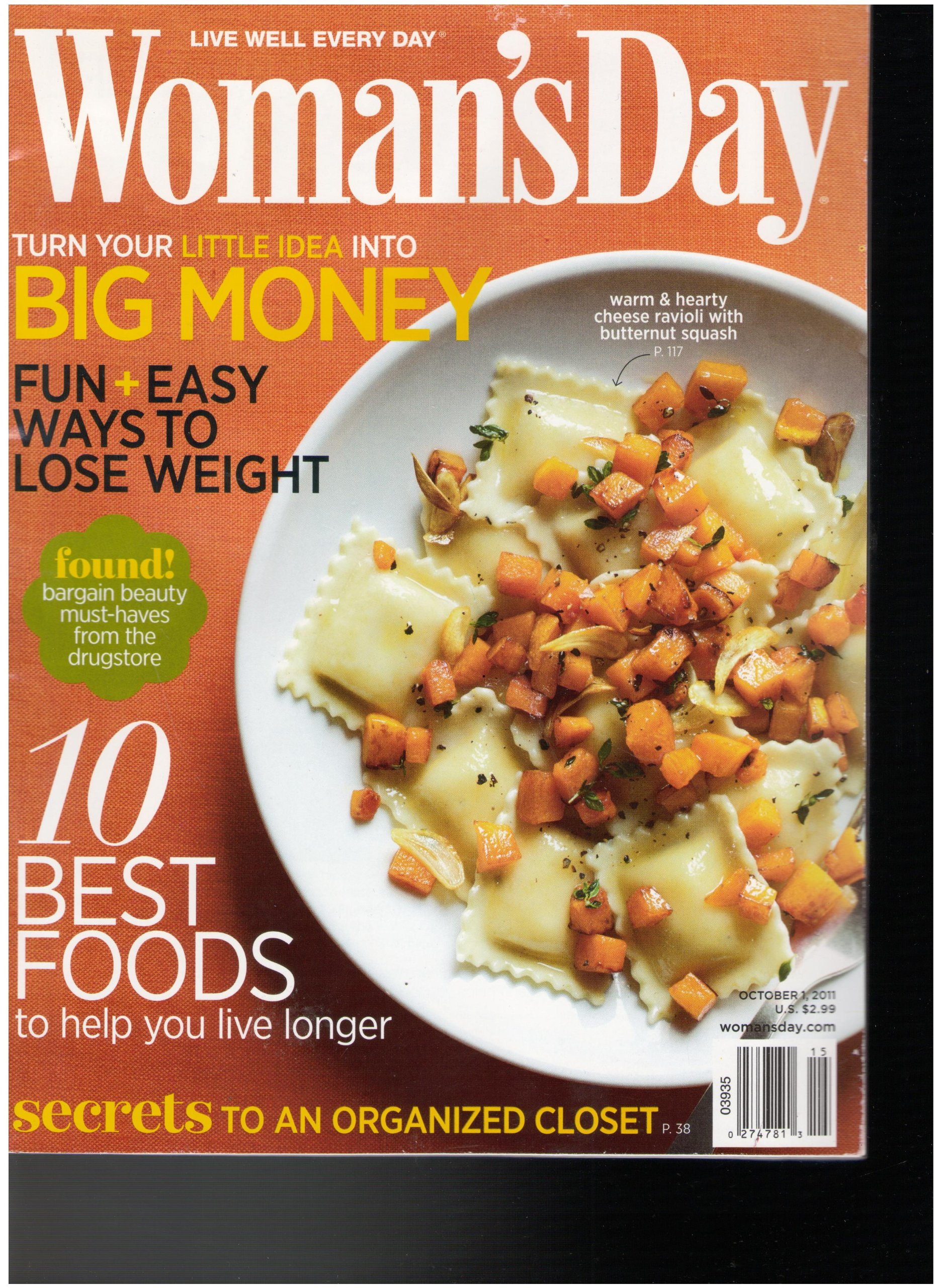 Download Woman's Day Magazine (Turn your big idea to Big Money, October 1 2011) pdf