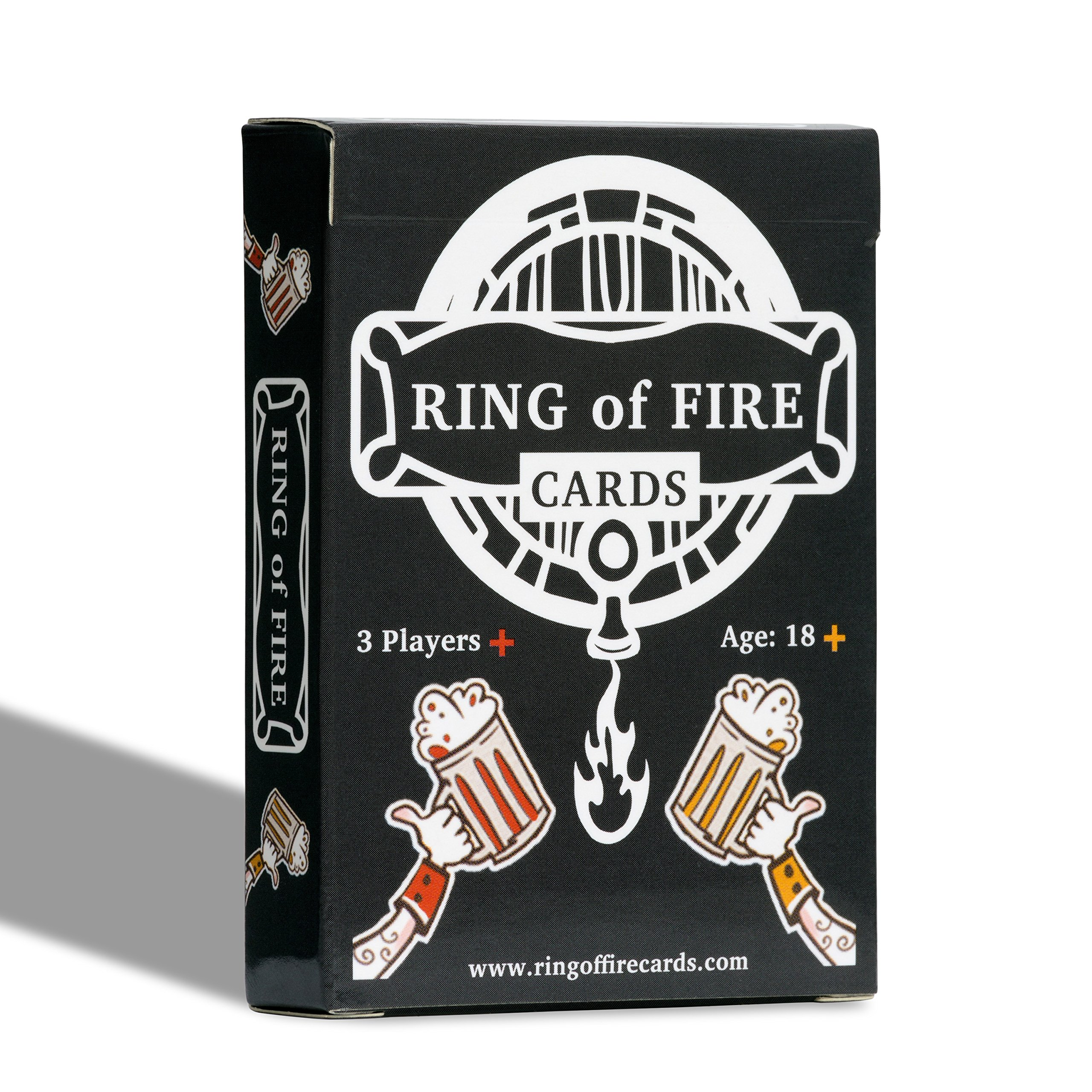 Ring of Fire Cards - The Classic Drinking Game with All the Rules Illustrated on the Cards - Great For Students and Parties