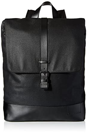 d65906ad0d8 Calvin Klein Men's Calvin Klein Coated Canvas Backpack, black, One Size