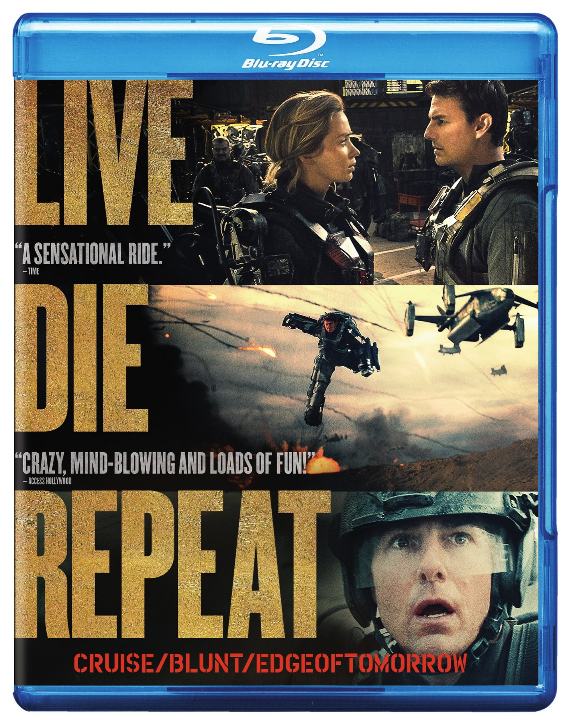 Blu-ray : Live Die Repeat: Edge of Tomorrow (AC-3, Digital Theater System, Dolby)