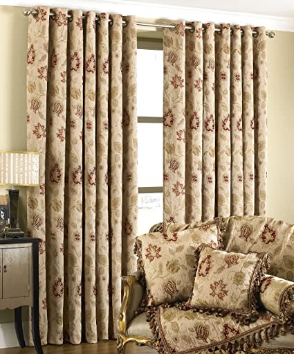 Pair Of Thermal Blackout Curtains Eyelet Ring Top Home Decor Window Curtains New Luxuriant In Design Curtains, Drapes & Valances
