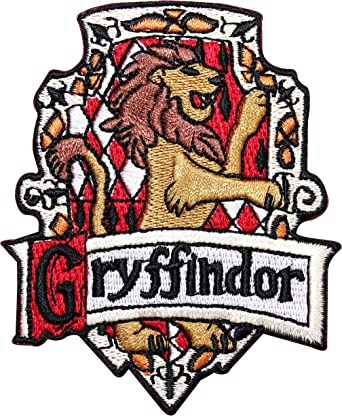 Amazon Com Harry Potter Gryffindor Embroidered Chest Logo Patch