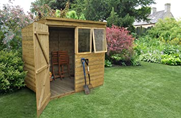 forest garden 7x5 tongue groove garden shed pressure treated