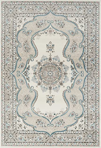 Persian-Rugs 6325 Oriental Cream 7'10×10'6 Area Rug Carpet Large New