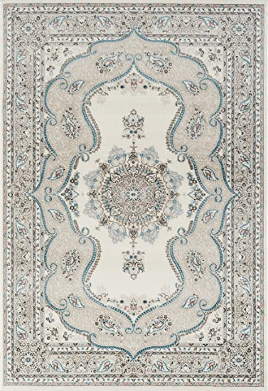 Amazon Com Persian Rugs 6325 Oriental Cream 7 10x10 6 Area Rug Carpet Large New Furniture Decor