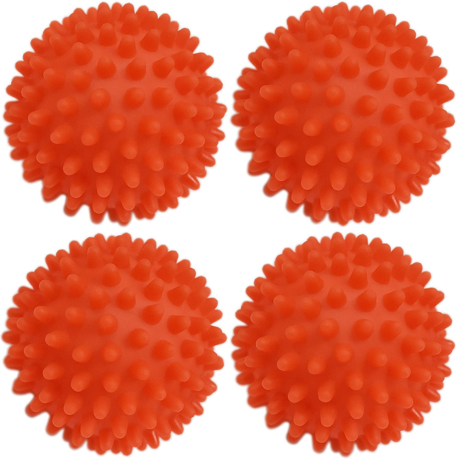 Black Duck Brand Dryer Balls 4 Pack Orange- Reusable Dryer Balls Replace Laundry Drying Fabric Softener and Saves You Money