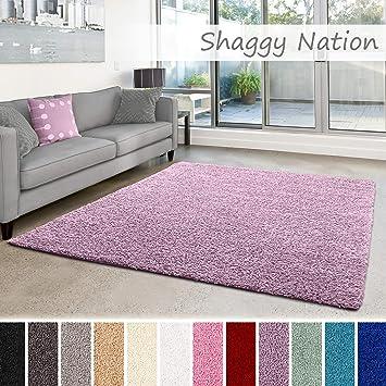 Flauschige Hochflor Teppiche f/ür Wohnzimmer K/üche Flur L/äufer Schlafzimmer oder Kinderzimmer Einfarbig Shaggy-Teppich Grau, Muster: 5x5 cm schadstoffgepr/üft