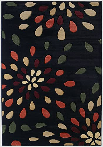United Weavers of America Contours Collection Dazzle Heavyweight Heatset Olefin Rug, 7-Feet 10-Inch by 10-Feet 6-Inch, Onyx