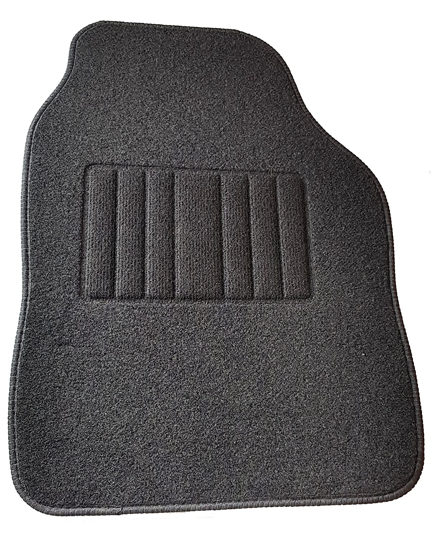 Safe Travel 27600 Alfombrillas universales para veh/ículos con volante a la izquierda Almohadilla para los pies de moqueta Costuras en Color Negro