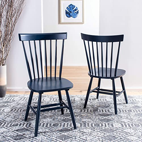 Safavieh Home Parker Navy Blue Spindle Dining Chair