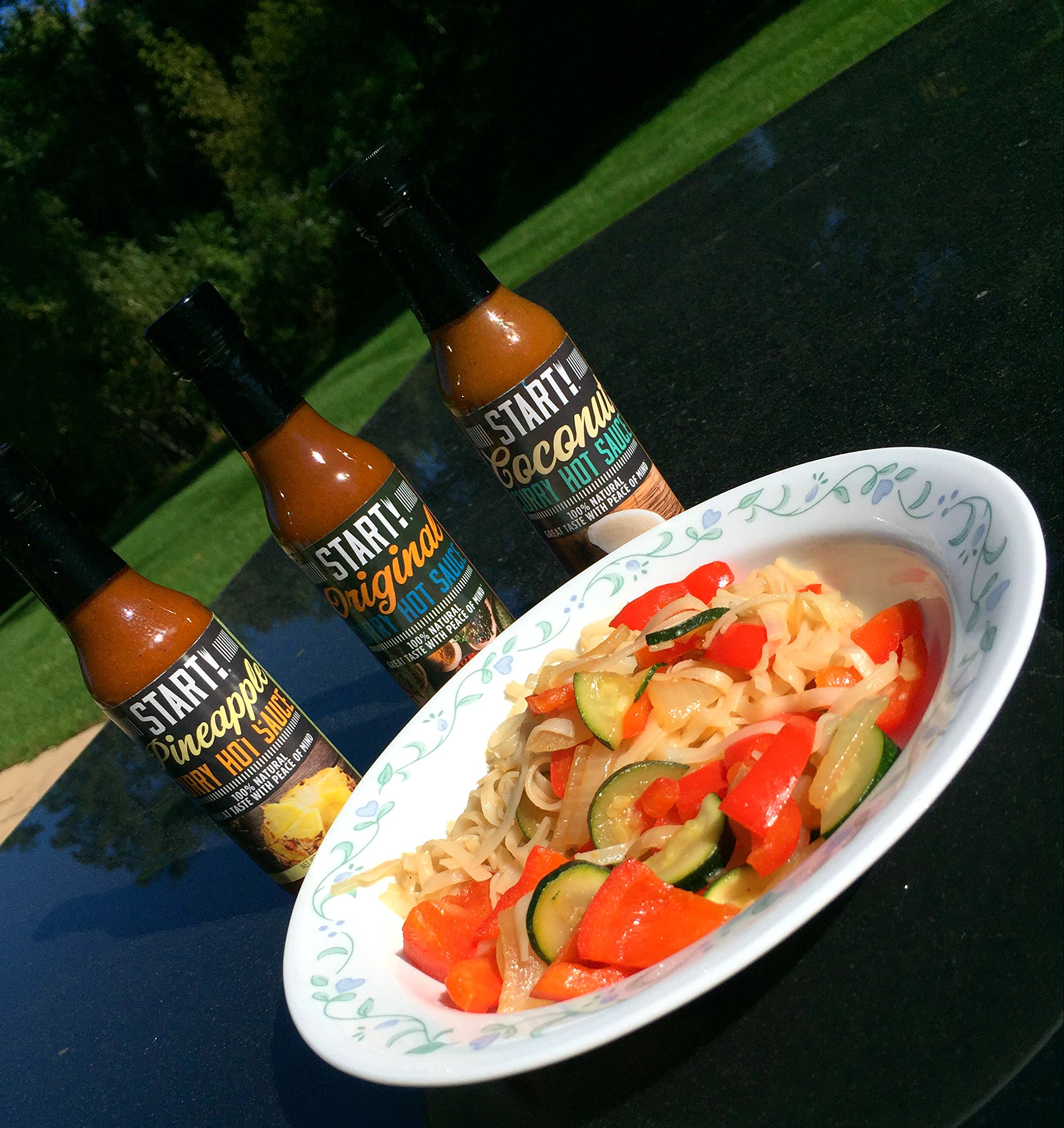 START! Curry Hot Sauce - Variety Sampler Party Pack - Original, Coconut, and Pineapple Flavors - Vegan + Gluten Free - Everyday Gourmet Light Spice (12 pack) by Start (Image #6)