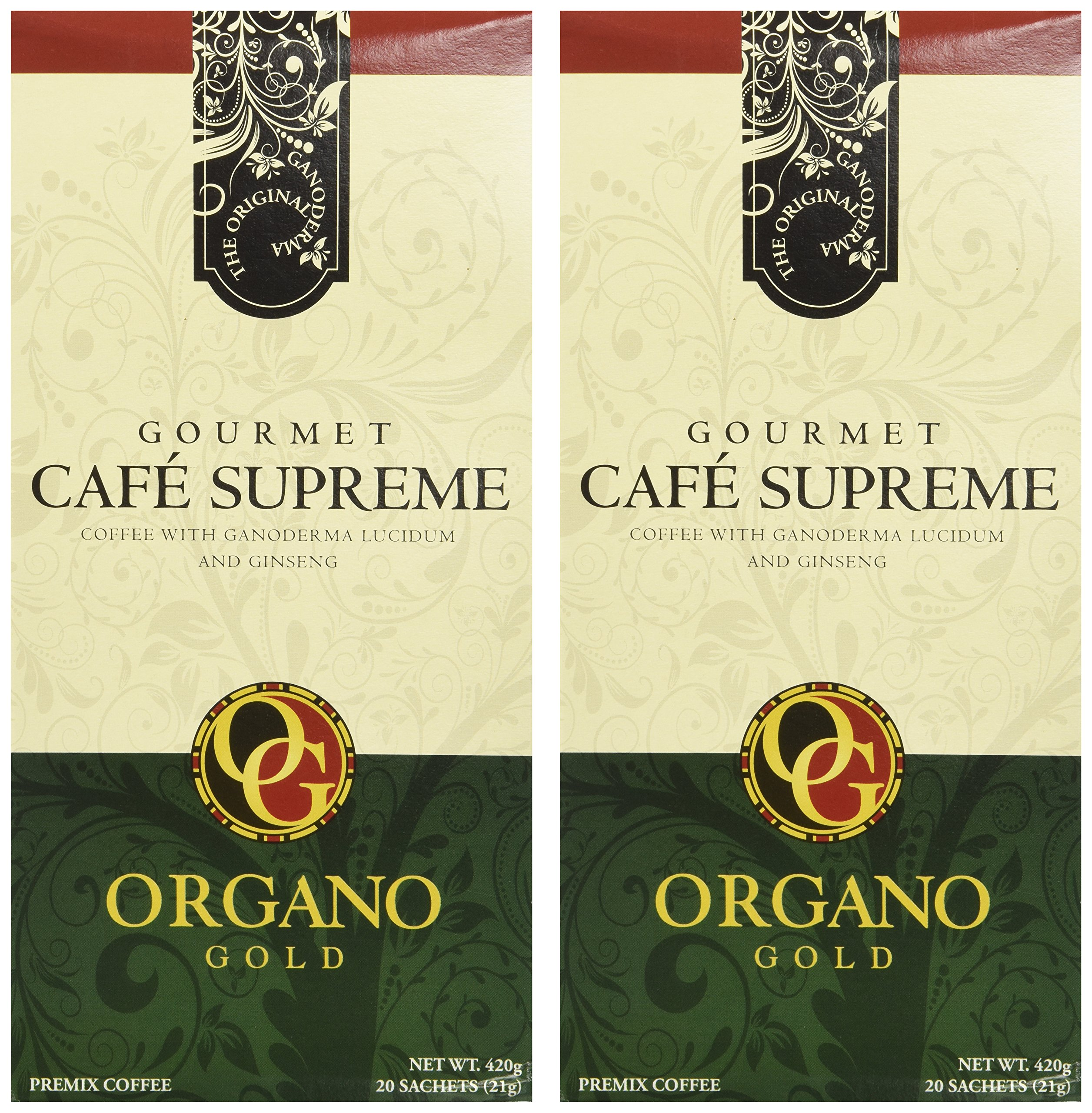 2 Boxes of Organo Gold Ganoderma Gourmet – Café Supreme(20 sachets) by Organo