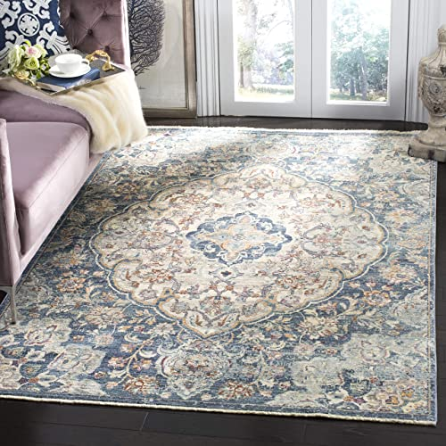 Safavieh Illusion Collection ILL711M Cream and Blue Area Rug 8 x 10