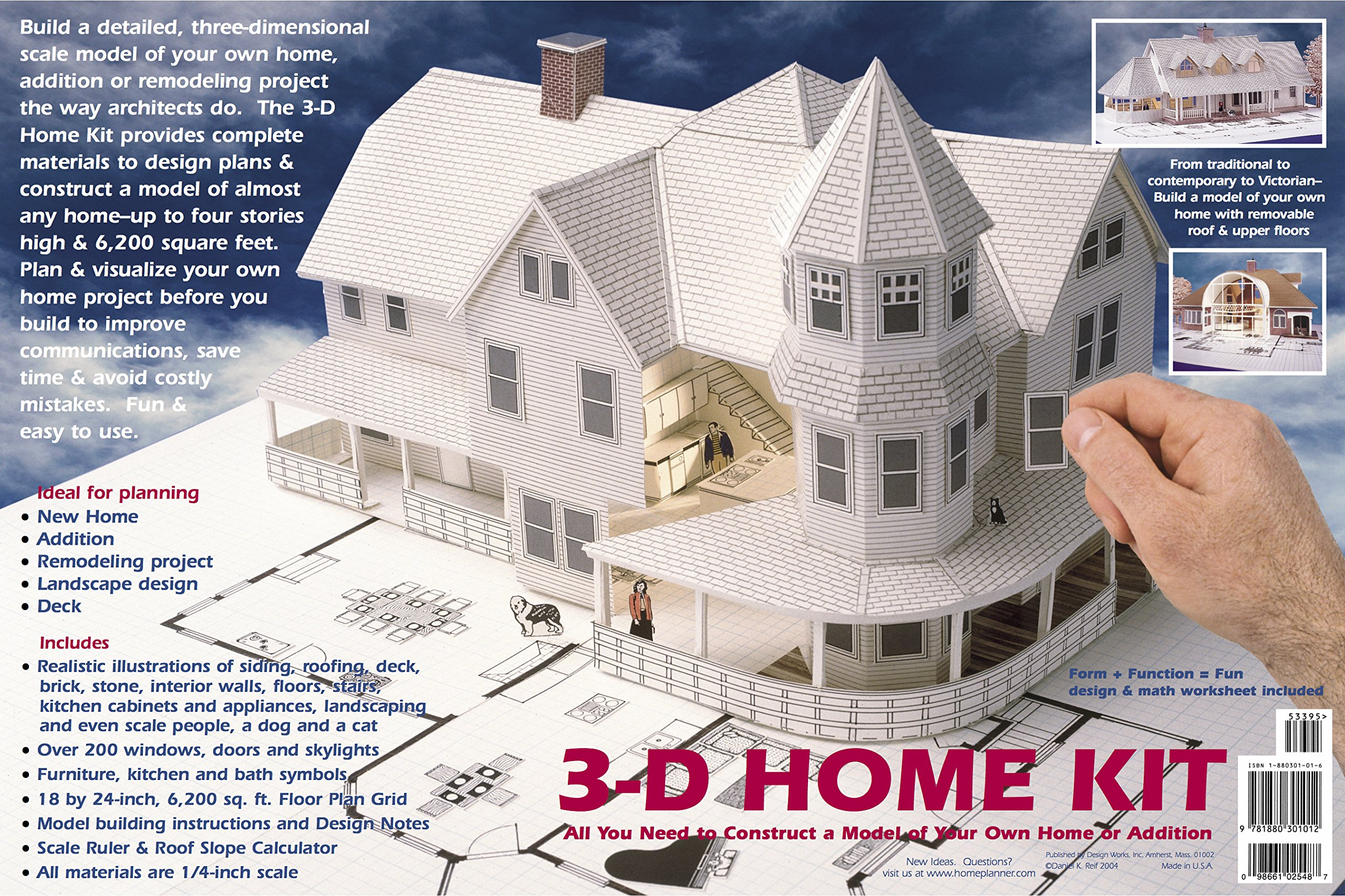 Wonderful Home Design Kit Part - 7: 3-D Home Kit: All You Need To Construct A Model Of Your Own Home Or  Addition: Daniel Reif, Dan Reif: 0098661025487: Amazon.com: Books
