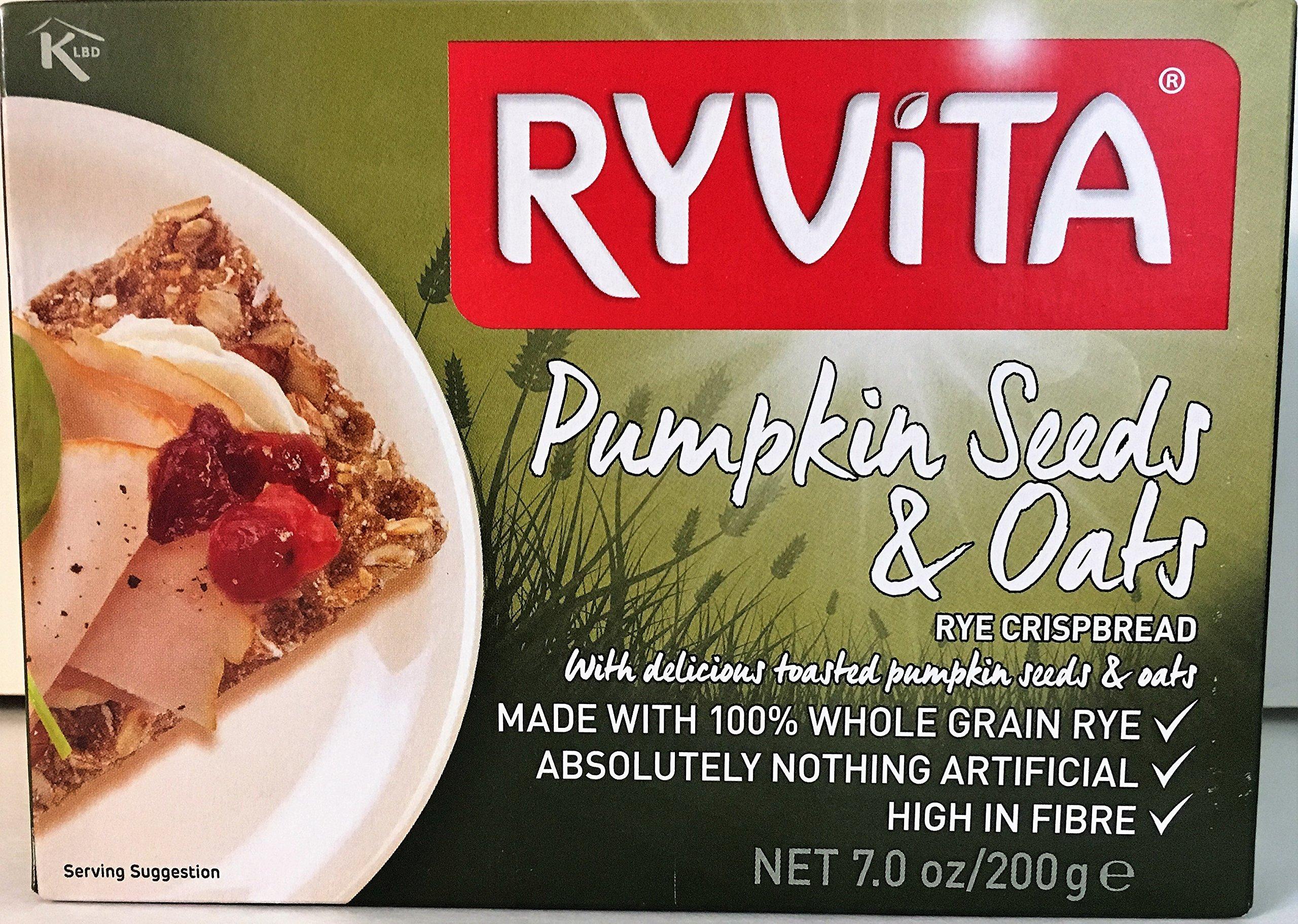 Ryvita Pumpkin Seeds and Oats Crispbread, 7 Ounce - 8 per case.