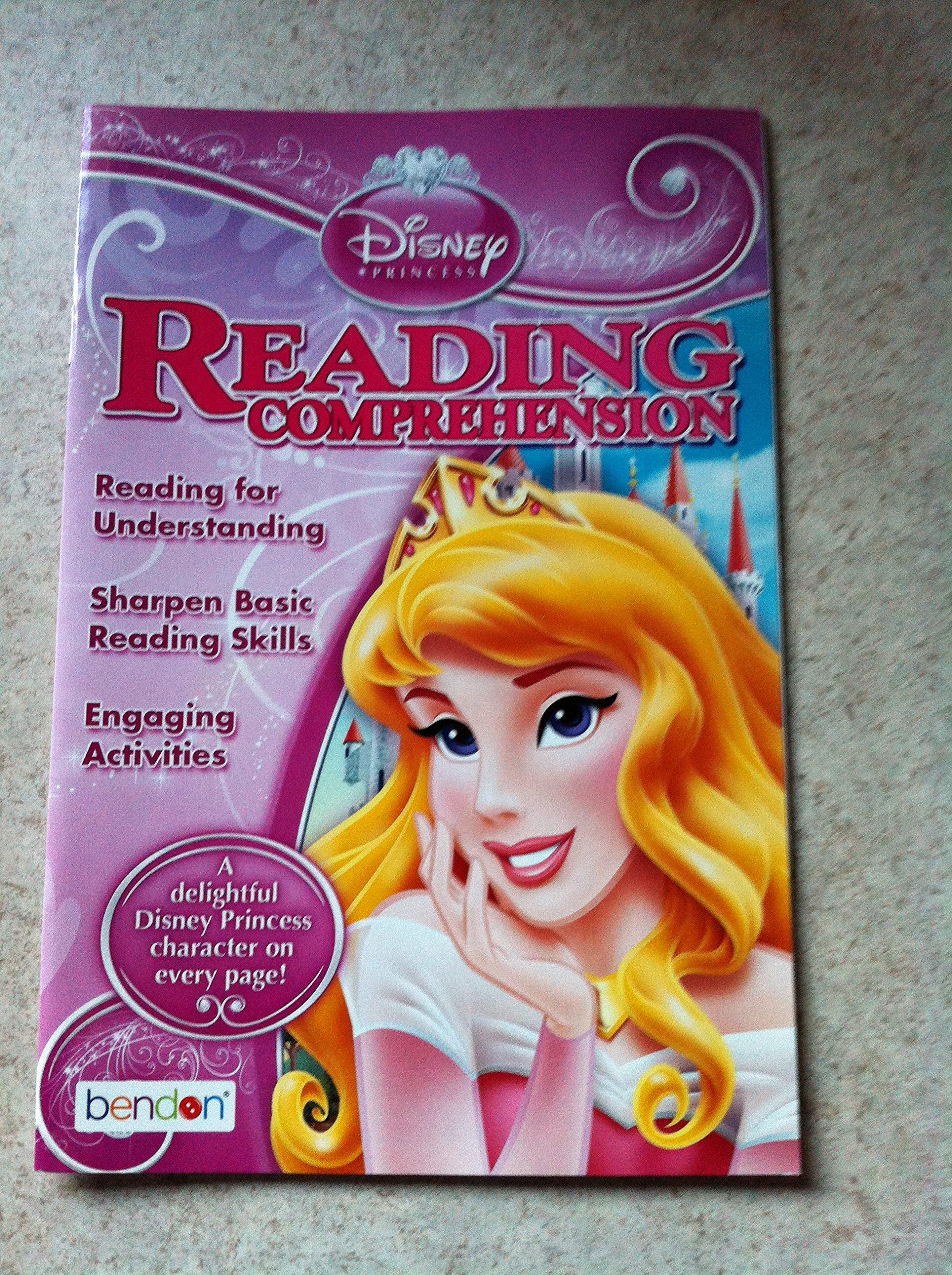 "Disney Princess ""Reading Comprehension"" Workbook by Bendon Ages 6-9 yrs. PDF"