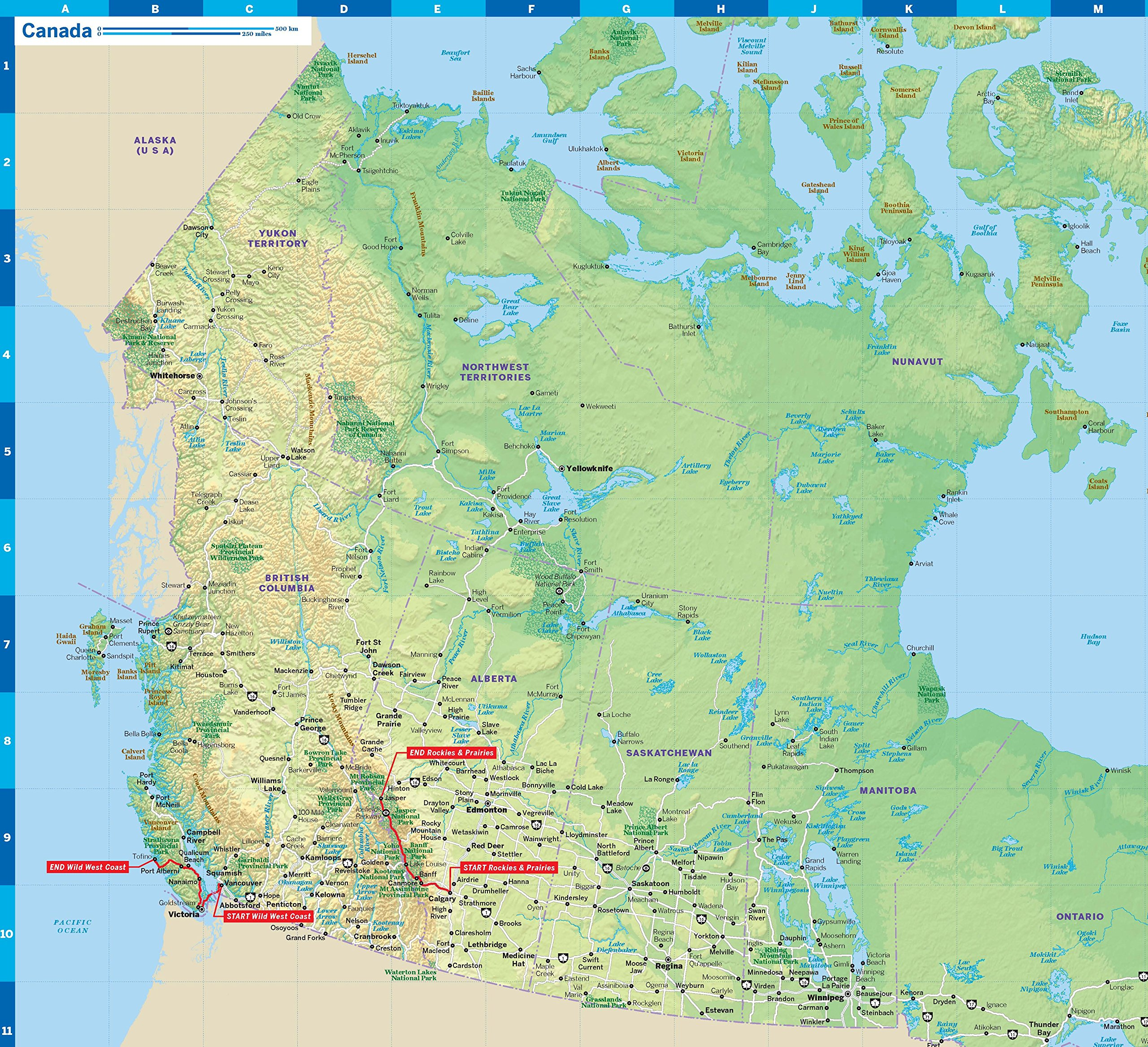 Canada Map Lonely Planet Lonely PlaCanada Planning Map (Planning Maps): Lonely Pla