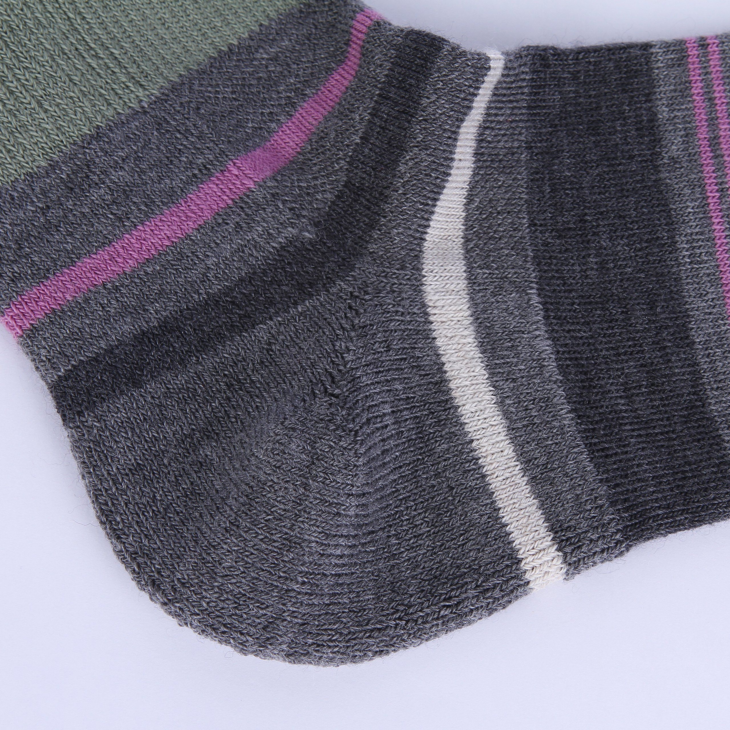 Enerwear 4 Pack Women's Merino Wool Outdoor Hiking Trail Crew Sock (US Shoe Size 4-10½, Violet/Gray/Multi) by Enerwear (Image #6)