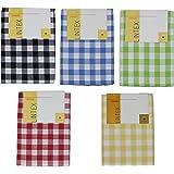 "Buffalo Check Tablecloth By Lintex, Black, 52""x70"", 100% Cotton (Black, 52""x70"")"