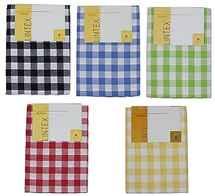 Buffalo Check Tablecloth By Lintex, Blue, 60u0026quot;x84u0026quot;,100% Cotton