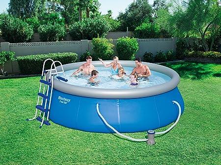 Bestway -12706-kit Fast seet Pool D 366 H 91 + fac + E: Amazon.es ...