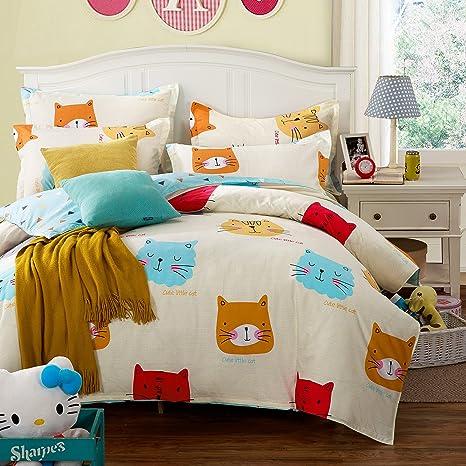 Lelva colorido Gatos impresión niños juego de cama bebé ...