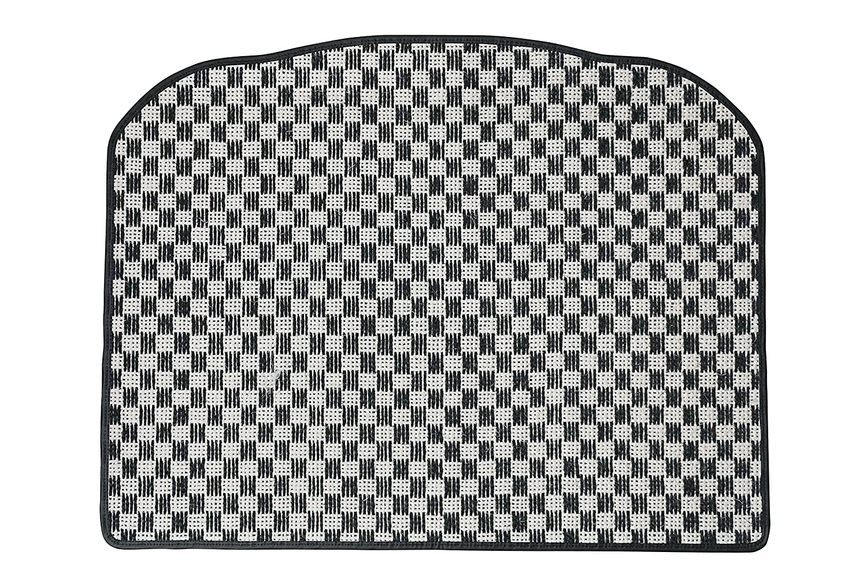 KARO(カロ) ラゲッジマット SISAL ホワイト/ブラック ニッサン スカイラインクロスオーバー(リアゲートのみ) B00NV2AMBQ SISAL×ホワイト/ブラック SISAL×ホワイト/ブラック