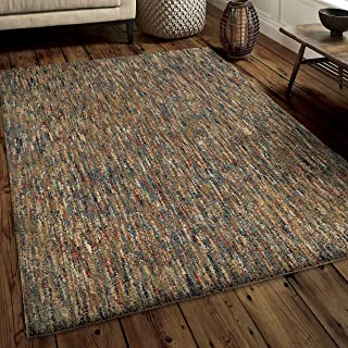 "product image for Orian Rugs Super Shag Collection 386295 Multi-Solid Area Rug, 5'3"" x 7'6"", Multicolor"
