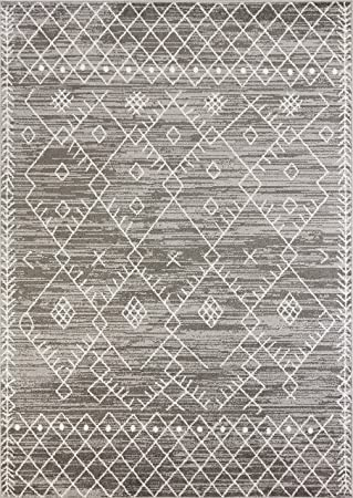 Kas Rugs Skyline Plush 9 X 13 Stain Resistant Area Rug In Grey Furniture Decor