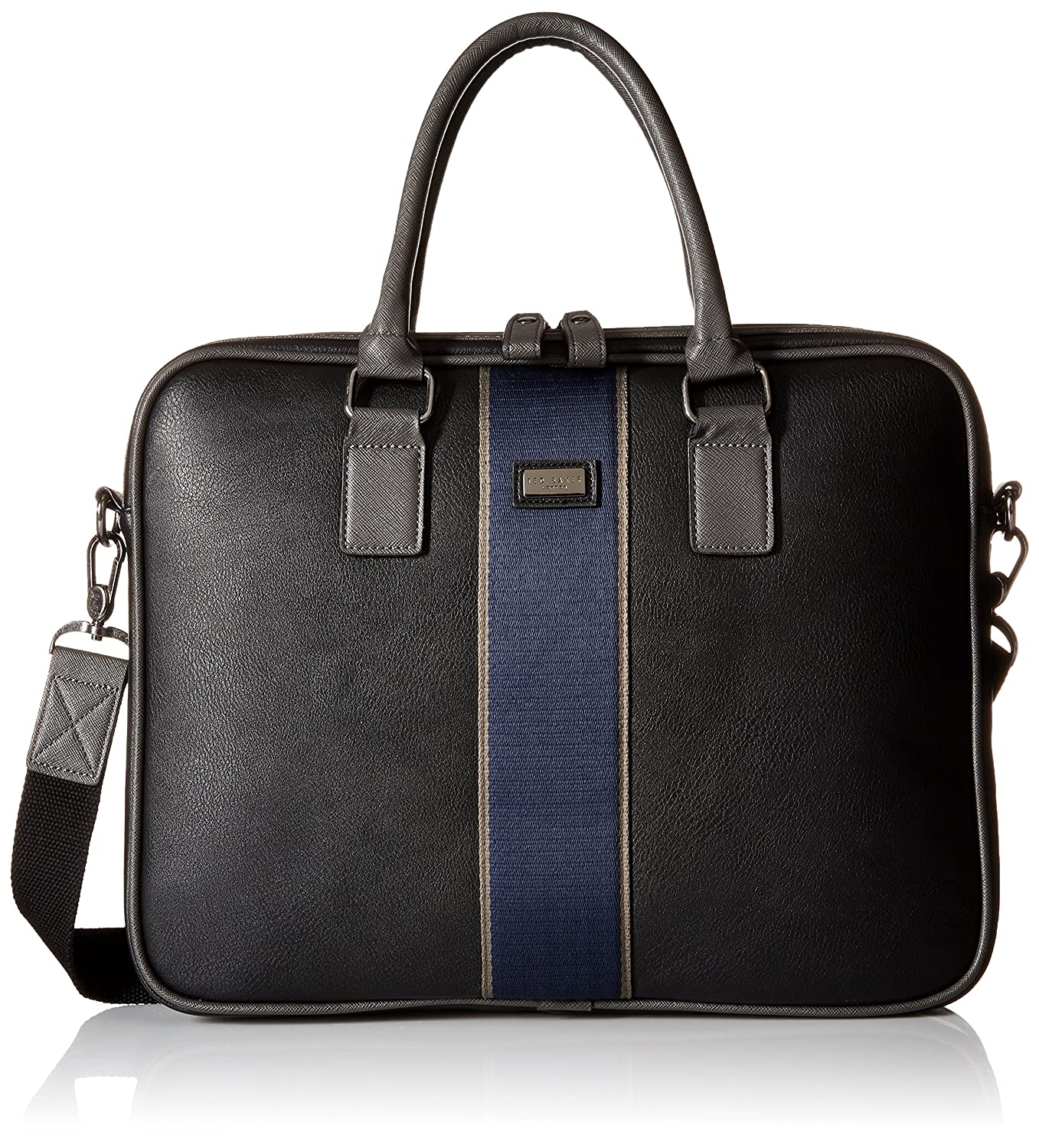 7c06f9531f6 Ted Baker Men's Striped Webbing Document Bag, Black: Amazon.co.uk: Clothing