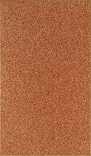 Ambiant Solid Color Oversize Area Rug Rust, 12 x 23