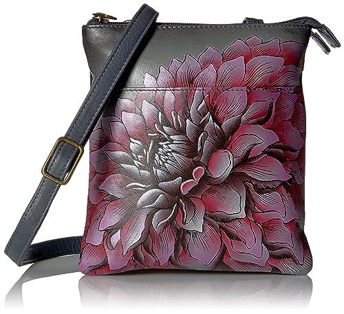 Anuschka Bolsos de piel pintado a mano, Cuero bolsos de hombro para Mujer, Bolsos de mujer de marca, Multi bolsillo bandolera crossbody (596 DRD-P): ...