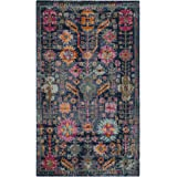 "Safavieh Artisan Collection ATN336J Vintage Bohemian Blue and Multi Distressed Area Rug (6'7"" x 9')"