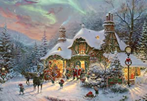 Ceaco Thomas Kinkade - Santa's Night Before Christmas Jigsaw Puzzle, 2000 Pieces