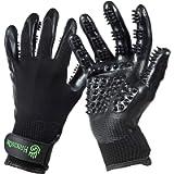 HandsOn Pet Grooming Gloves - Patented #1 Ranked, Award Winning Shedding, Bathing, & Hair Remover Gloves - Gentle Brush…