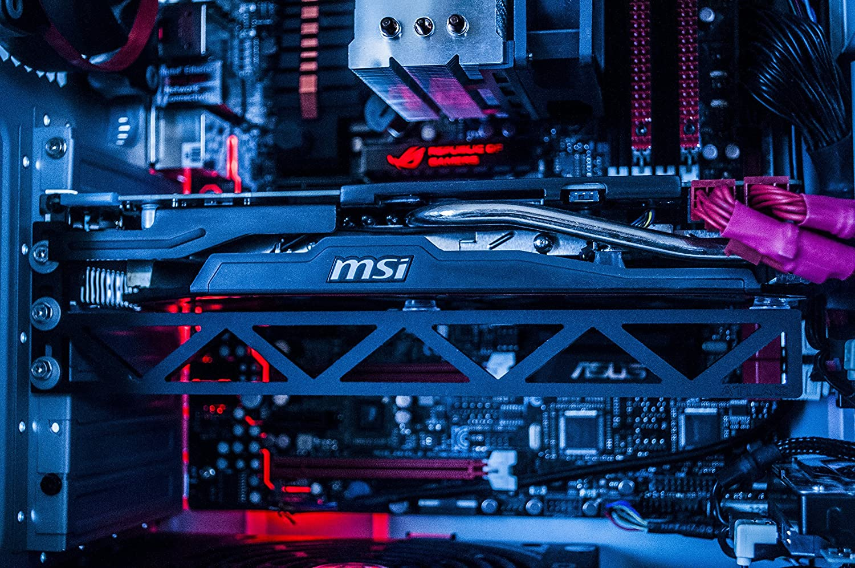 Fourth Level Manufacturing, Atlas Graphics Card Brace Support. Video Card Holder, GPU Brace, for Custom Desktop Pc Gaming. Acrylic GPU Stand case mod. Bitcoin, Mining