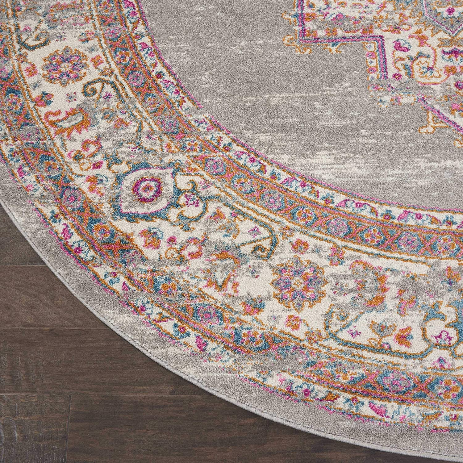 22 x 76 Nourison PSN03 Passion Traditional Area Rug GREY