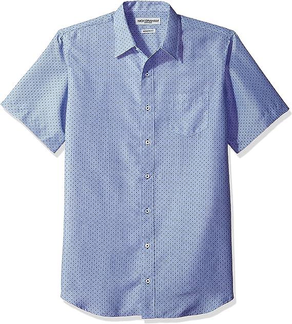 Abeaicoc Mens Slim Fit Big /& Tall Short Sleeve Floral Print Button Down Shirt