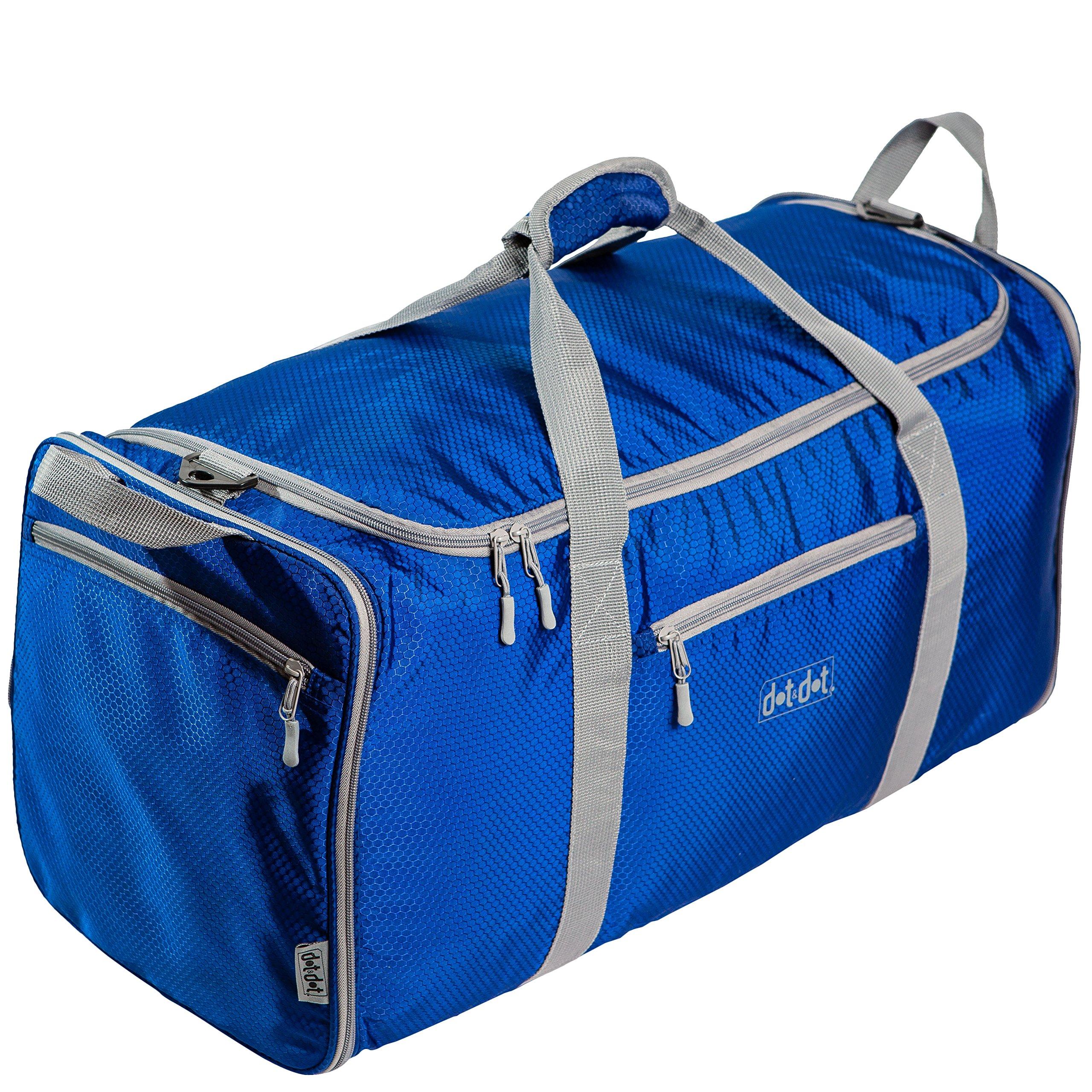 Dot&Dot Foldable Duffle Bag for Heavy Loaded Pack (27-inch, Dark Blue)