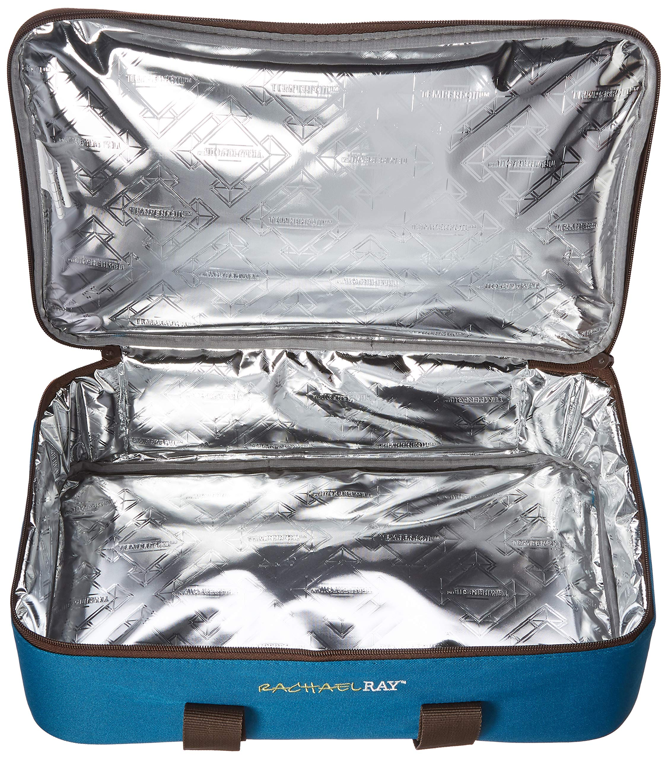 Rachael Ray Lasagna Lugger, Insulated Casserole Carrier for Potluck Parties, Picnics, Tailgates - Fits 9''x13'' Baking Dish, Marine Blue Stripes by Rachael Ray (Image #4)